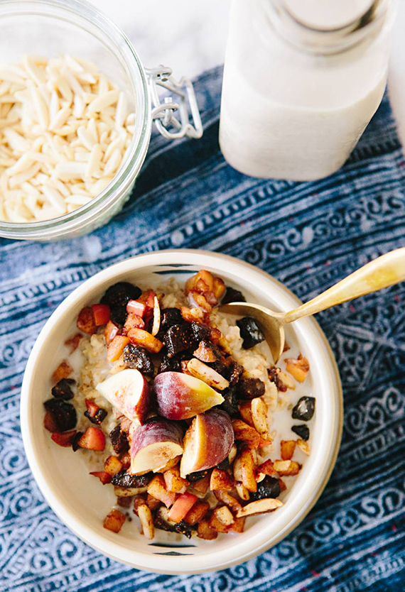 Steel-cut oats and cinnamon stewed fruit recipe by A House in the Hills