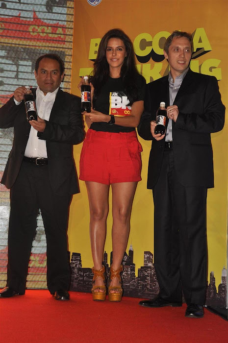 neha dhupia at the new logo launch of cola brand big cola. hot images