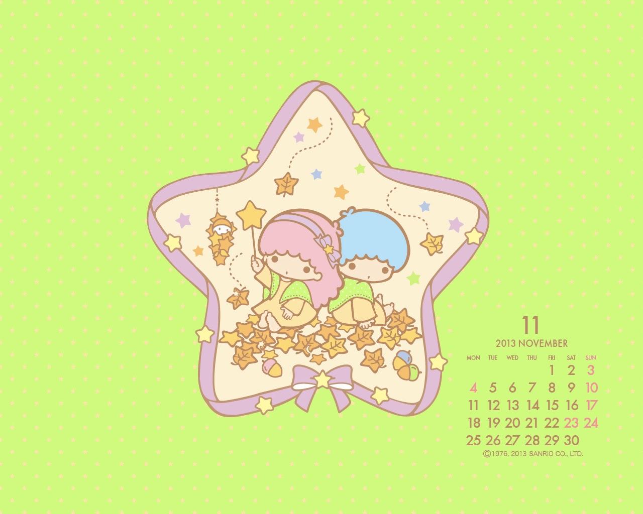 I love Kawaii: Little Twin Star November 2013 Wallpaper Little Twin Stars Wallpaper 2013