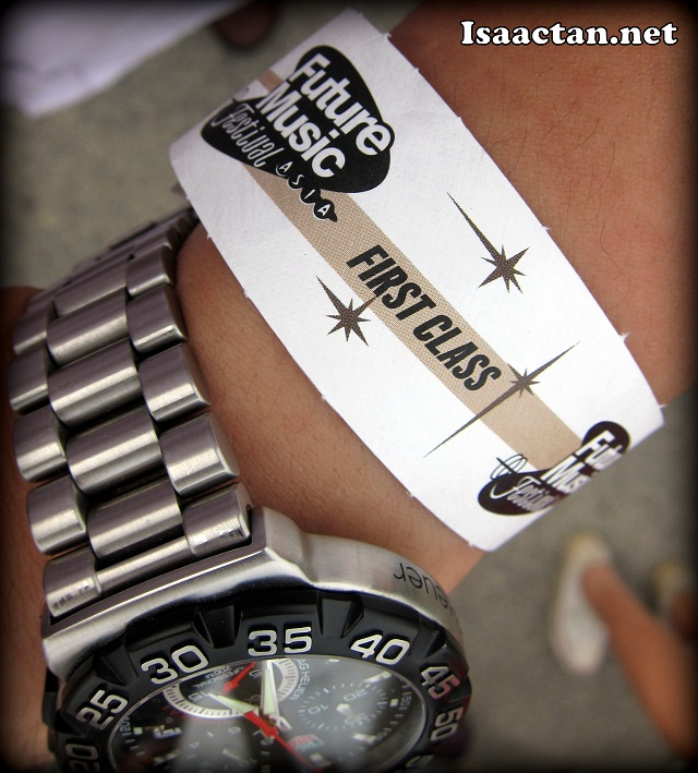 Isaac Tan wristband to Future Music Festival Asia 2012 Sepang
