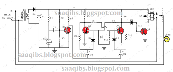 simple clap switch circuit diagram