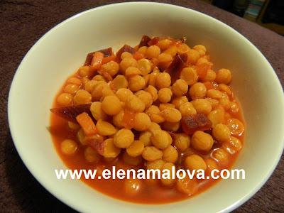 Elena malova receta garbanzos con verduras for Cocinar garbanzos