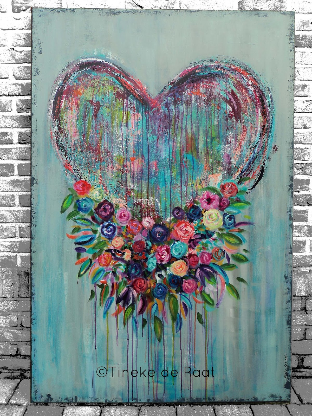 Tineke de raat love is the finest flower that blooms in god 39 s garden - Associatie van kleur e geen schilderij ...