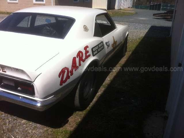 10k: Gov't Auction: 1968 Chevy Camaro DARE Drag Car