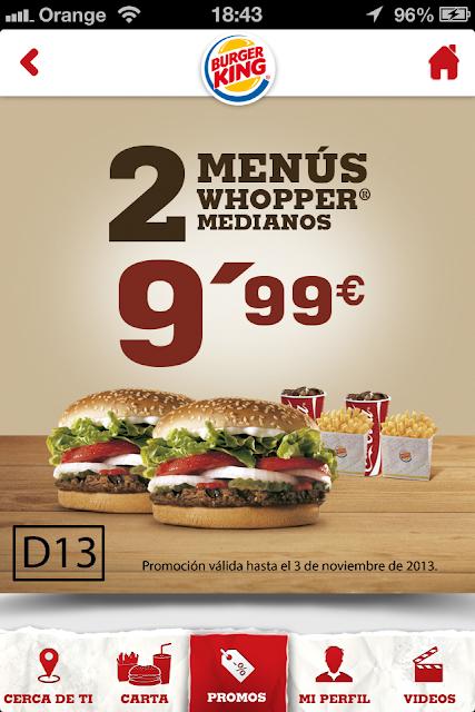 App Burger King