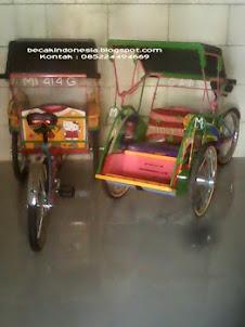 Becak Mini Mainan Anak. Kontak : 085224494669