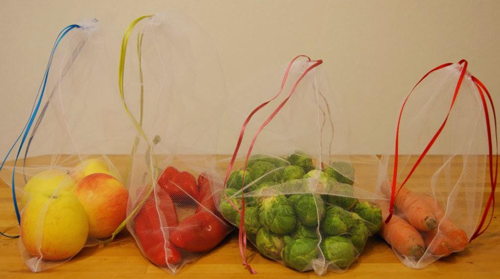 DIY Obst- & Gemüsebeutel für plastikfreien Einkauf
