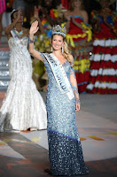 The new Spanish beauty queen, Mireia Lalaguna Royo, 23, is a young pharmacology student from Barcelona, who has captured the crown in tears and applause among 114 candidates at Sanya island in Hainan, China on Saturday, December 19, 2015.