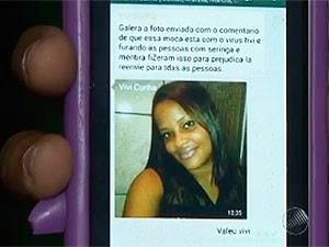 Mulher presta queixa após sua foto rodar no whatsapp como portadora de HIV.