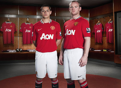 Manchester United New Jersey Hernandez Rooney Jersey 2011
