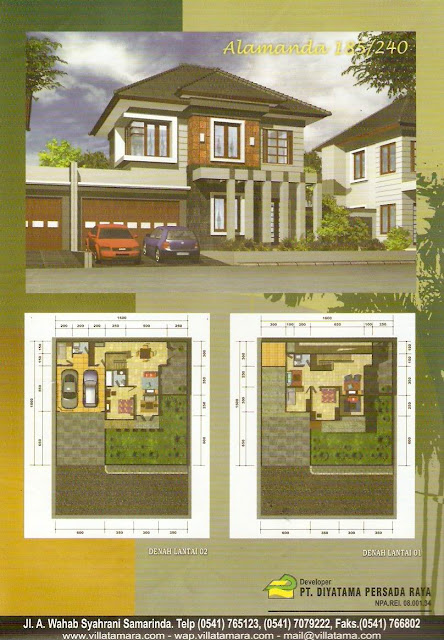 model rumah modern rumah type 185/240