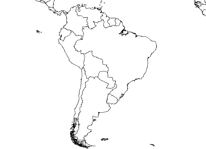 Map Of South America Without Names