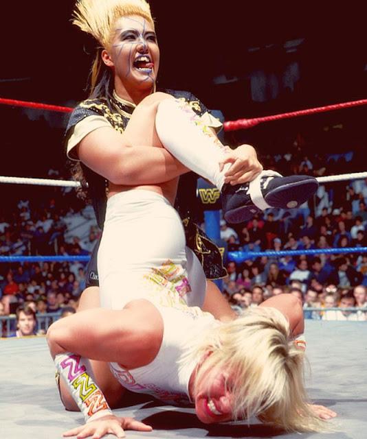 Bull Nakano Punishes Madusa-WCW