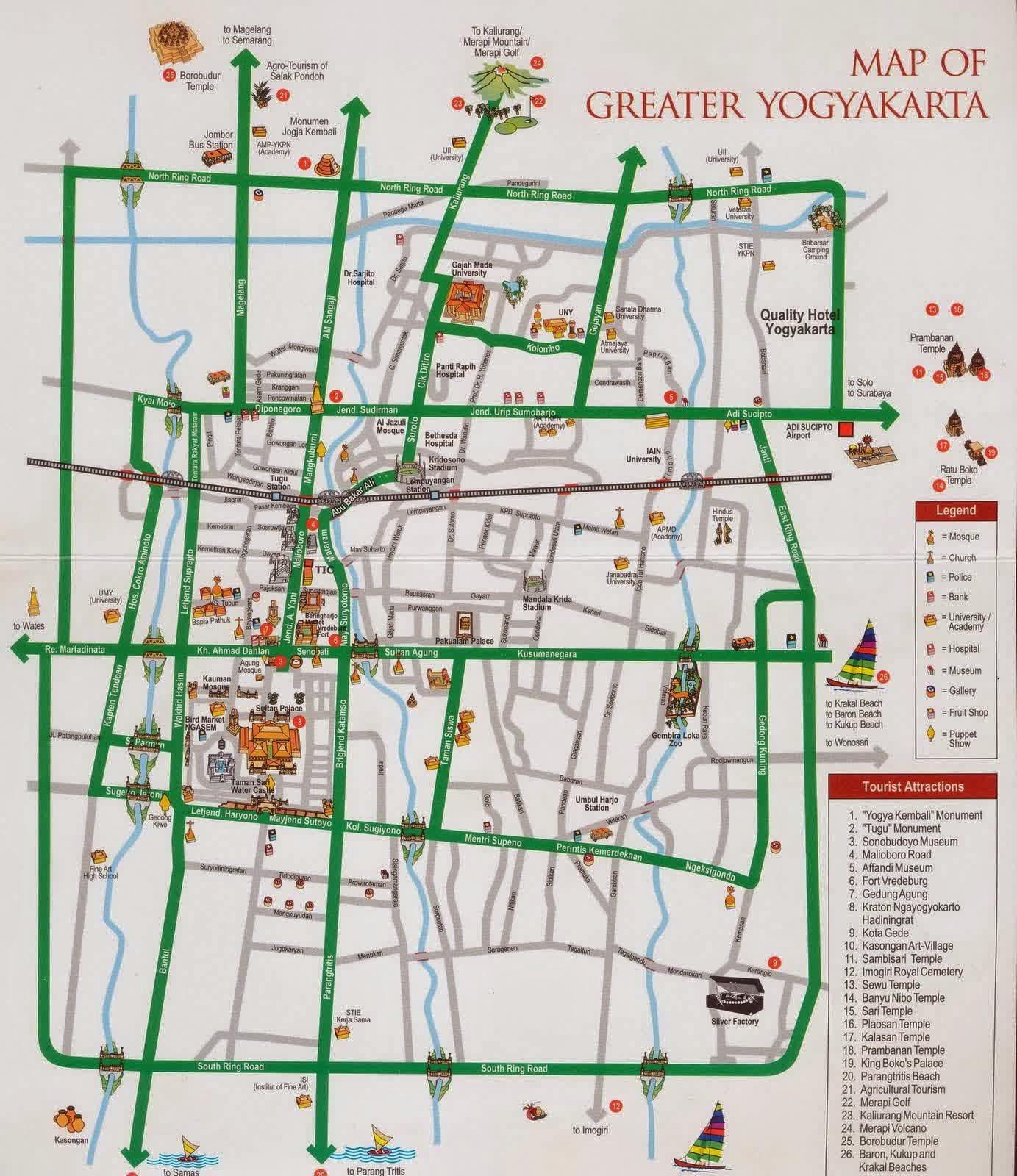 peta menuju Monumen Jogja Kembali