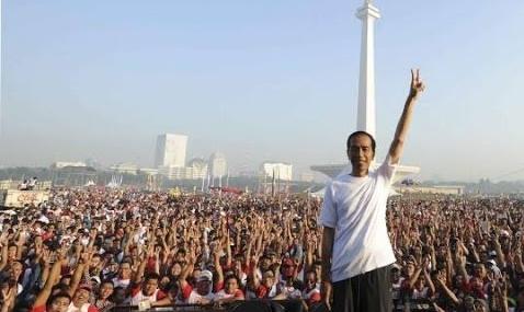 Jokowi di Monas