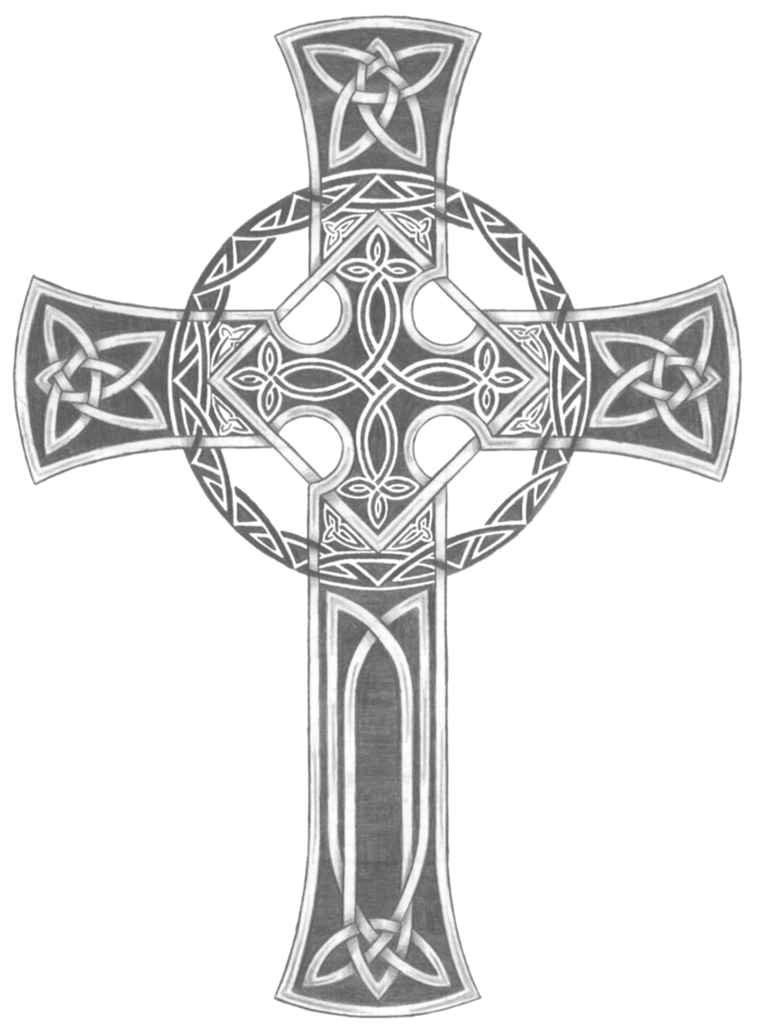 irish celtic cross tattoos