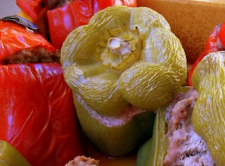 Ranch Burger Stuffed Peppers