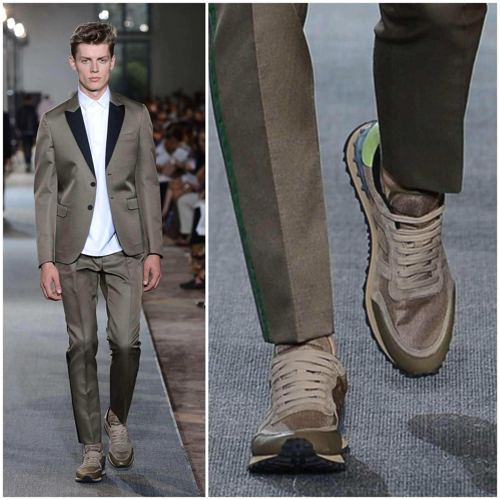 00O00 Menswear Blog Kevin Cheng [] in Valentino - Valentino Menswear Fall Winter 2013, Paris. Kevin Cheng [] wore Valentino menswear Spring Summer 2013 camouflauge sneakers available from MatchesFashion.com