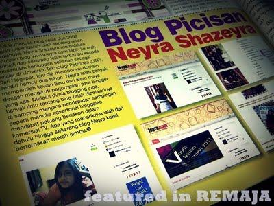 Bila Blogger Masuk Majalah (4) - Neyra Shazeyra