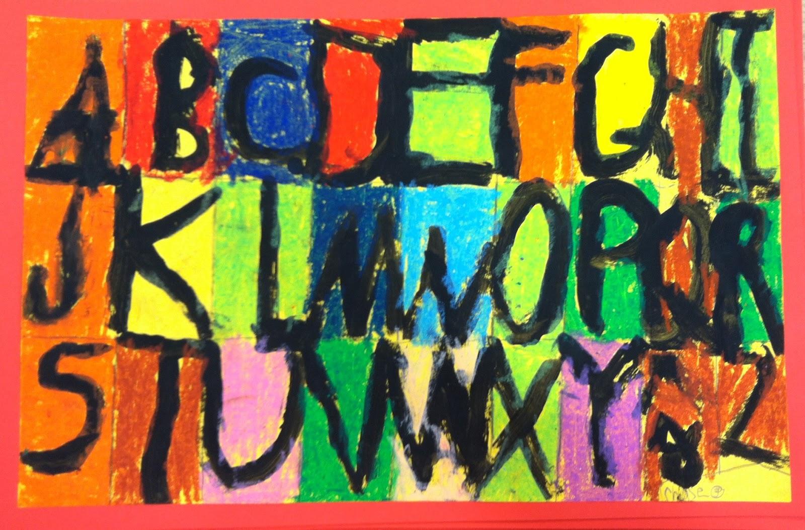 ART with Mrs. A: 1st Grade ABC Art