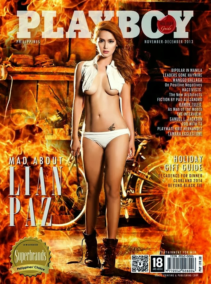Magazine Scans : Lian Paz Hot Photoshoot for Playboy Magazine Philippines November/December 2013 issue