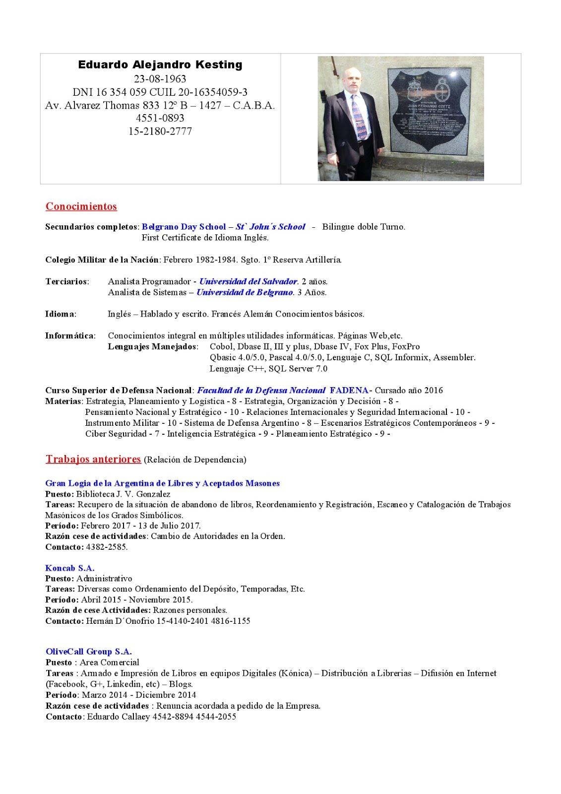 Historias, Instituciones, Personajes por Eduardo Alejandro Kesting ...