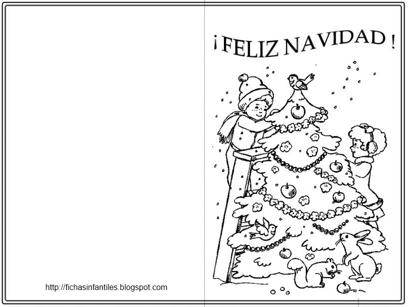 dibujos para tarjetas navidenas: