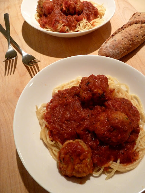 how to make healthy spaghetti and meatballs