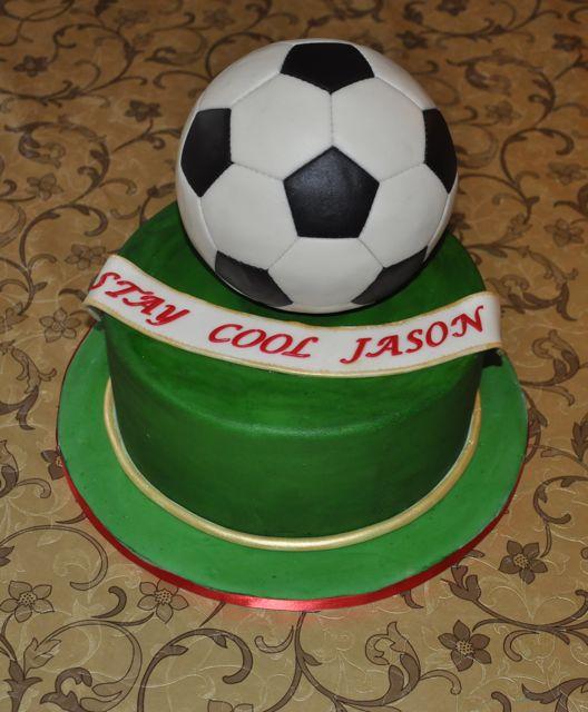 Как сделать футбольный мяч на торт