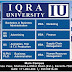 IQRA University Admission Open 2016 Karachi Online