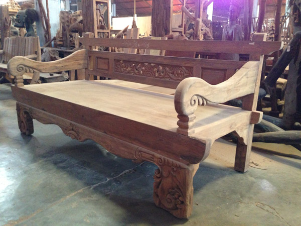 Teak Ornate Day Bed - Indonesia