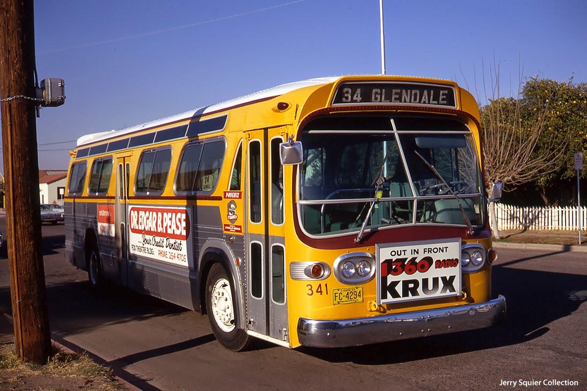 eddie 39 s rail fan page a phoenix transit general motors tdh new look fishbowl windshield