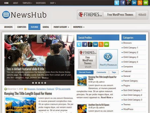 NewsHub - Free Wordpress Theme