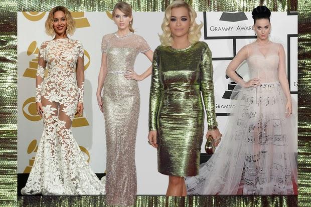 2014 grammy kırmızı halı, grammy ödül töreninde ünlüler, uzun abiye, uzun gece elbisesi, dekolteli elbise, kırmızı abiye, mavi uzun elbise