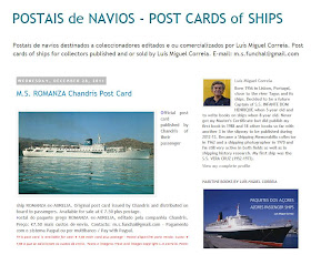 POSTAIS DE NAVIOS - POST CARDS of SHIPS
