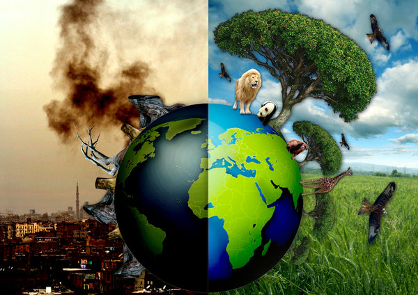 ecological crisis caused by overconsumption and Human impact on the environment or anthropogenic impact on the environment includes changes to biophysical environments and ecosystems, biodiversity, and natural resources caused directly or indirectly by humans, including global warming, environmental degradation (such as ocean acidification), mass extinction and biodiversity loss, ecological.