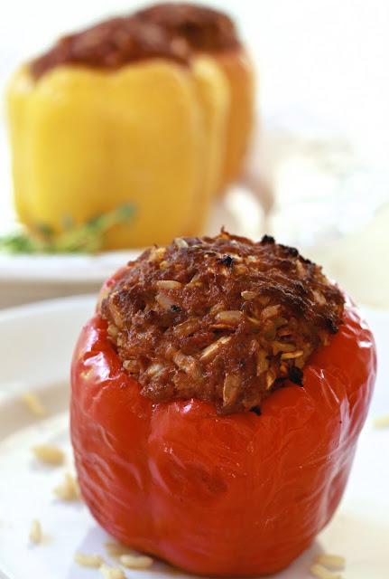 Epicurean Mom: Stuffed Bell Peppers