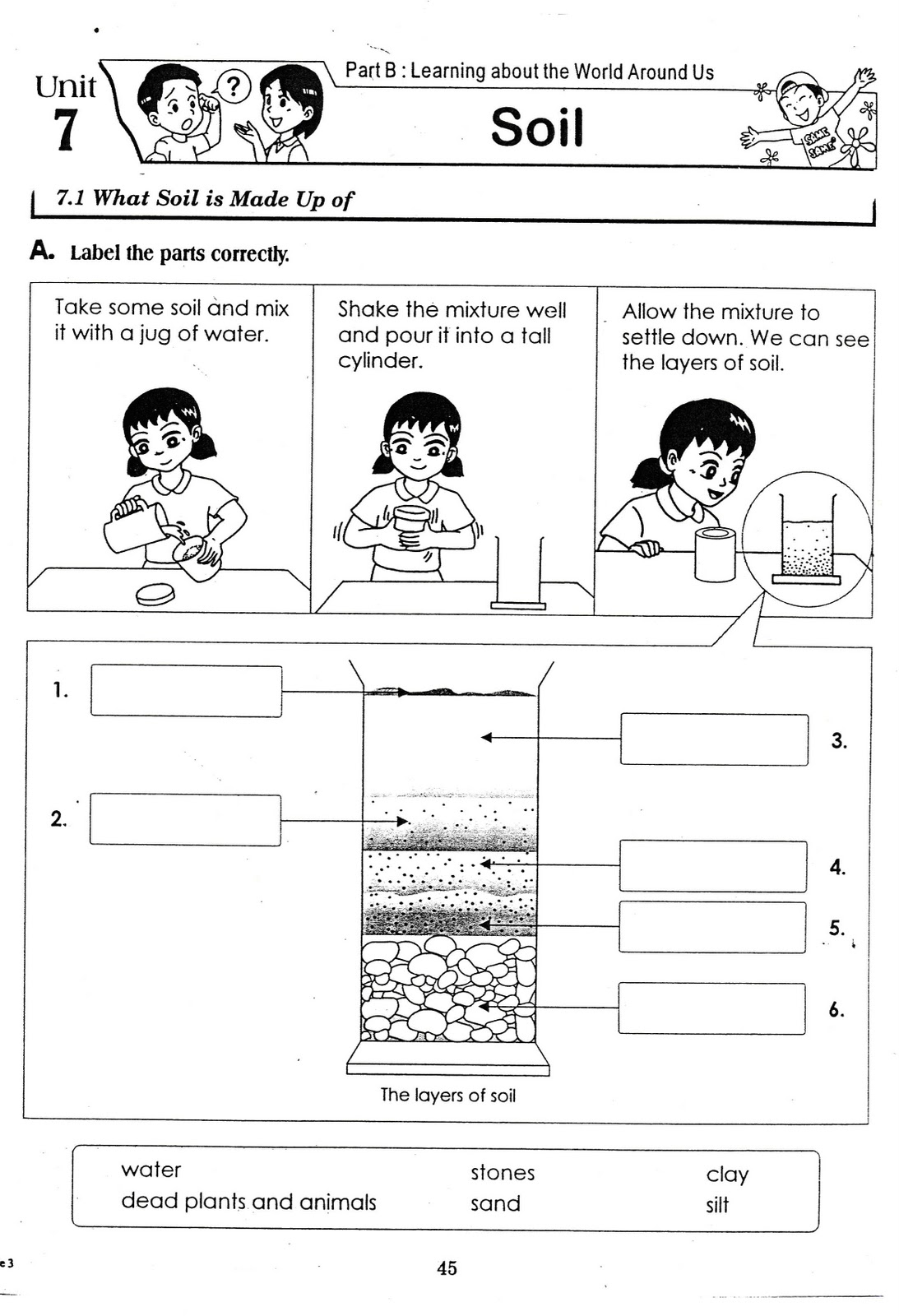 SCIENCE YEAR 3 – Layers of Soil Worksheet