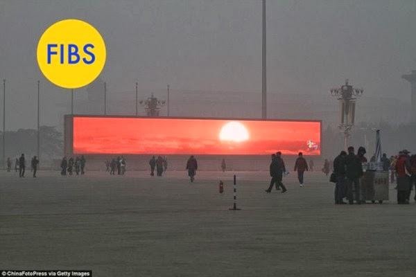 3. Пекин. Смог. Рассвет.
