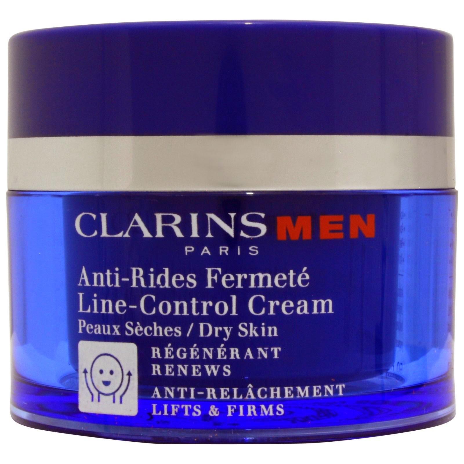 Clarins Men Line-Control Cream -Ανδρική κρέμα αντι-γήρανσης για ξηρά δέρματα.