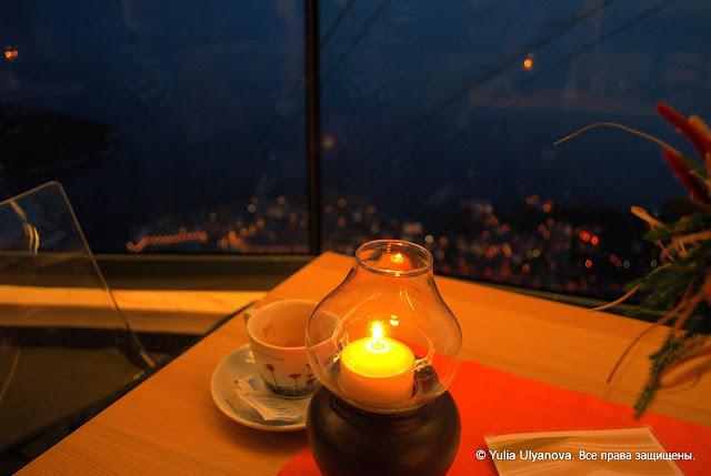 Ресторан на горе Срдж. Вид на Дубровник.Хотватия