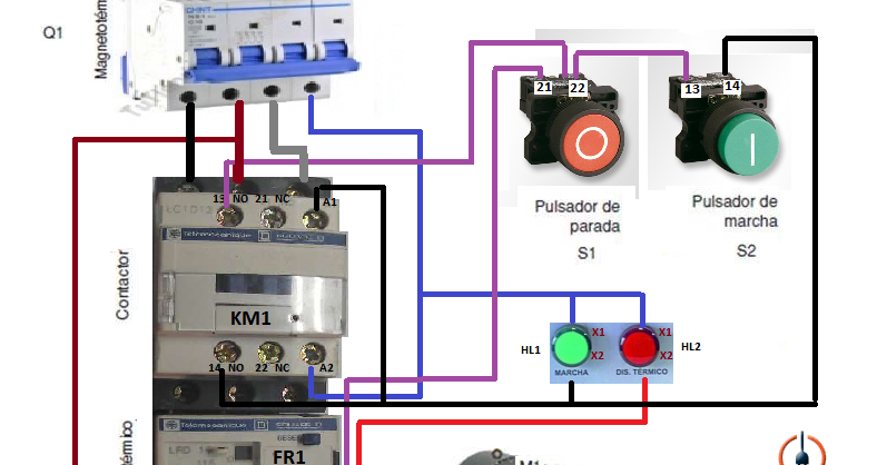 Electrical Diagrams  Control Three Phase Motor Starter