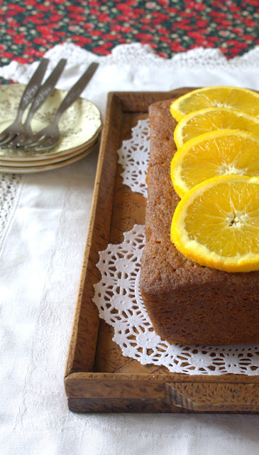 Orange Hazelnut Loaf Cake with a refreshing orange drizzle