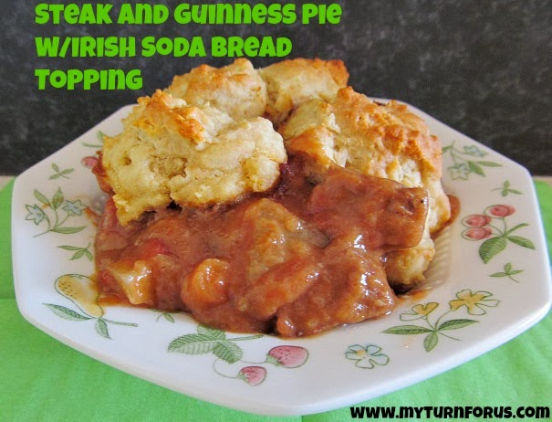 Steak and Guinness pie is a rich meat pie, seasoned with Guinness ...