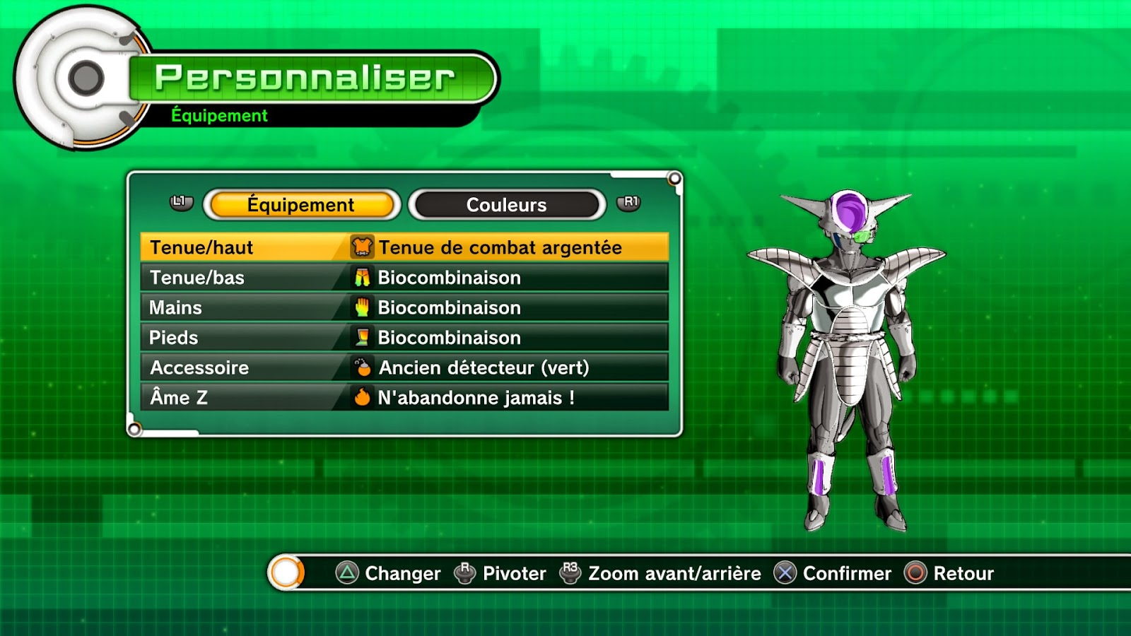 équipements premium dragon ball xenoverse