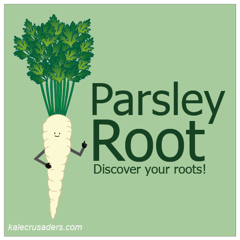 Parsley Root; Discover your roots; Hamburg Root Parsley