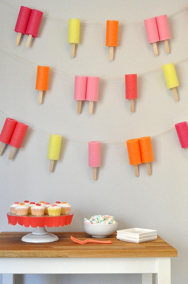 Jumbo Popsicle Garland