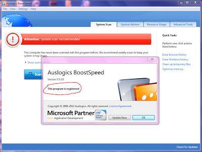 auslogics boostspeed free key