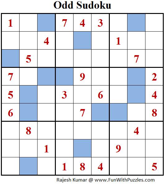 Odd Sudoku (Fun With Sudoku #144)