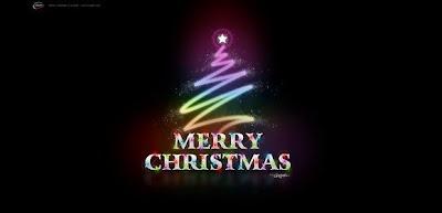 Feliz navidad con fondo negro bonito